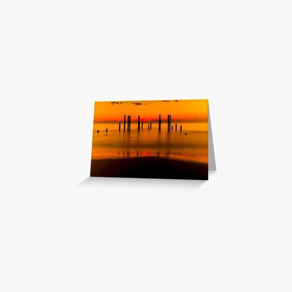 Port Willunga in Blazing Orange Greeting Card