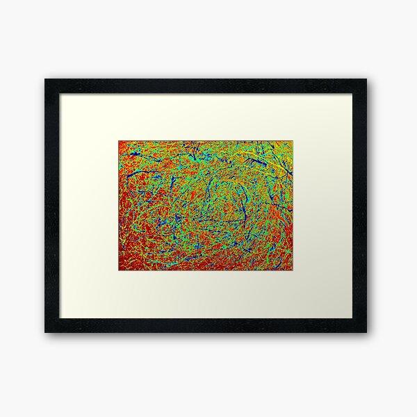 Abstract Jackson Pollock Style Painting Framed Art Print