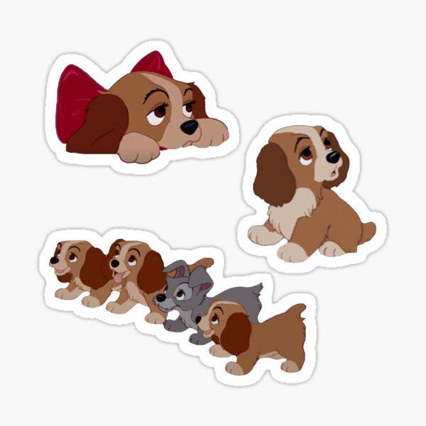 Cute Puppy Set Sticker