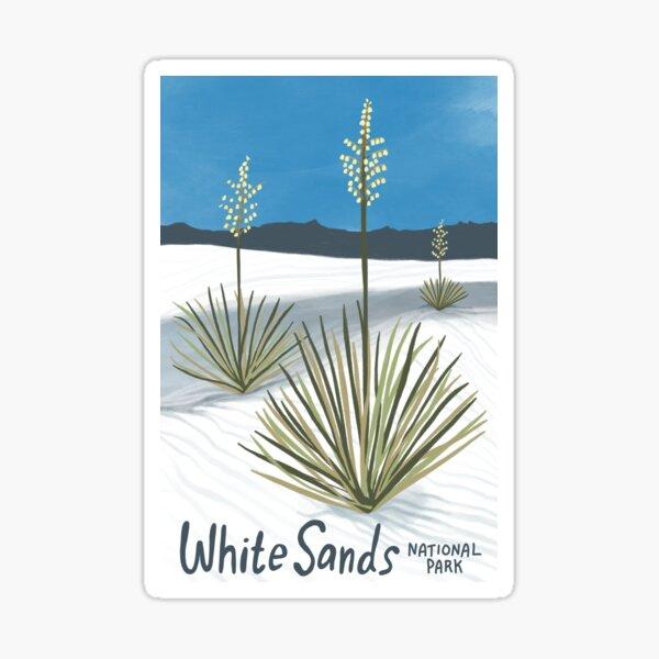 White Sands National Park New Mexico Illustration Sticker