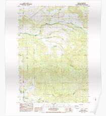 USGS Topo Map Oregon Jordan 280345 1985 24000 Poster