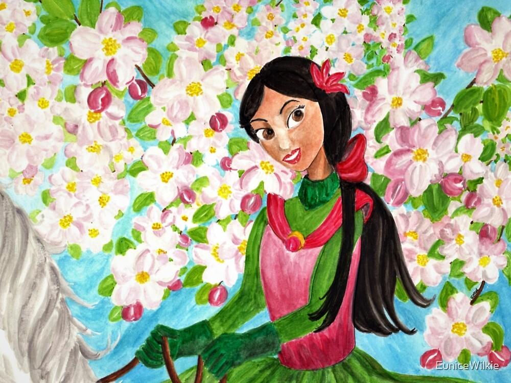 Princess Precious - In the Spring - Coasters & Blocks by EuniceWilkie