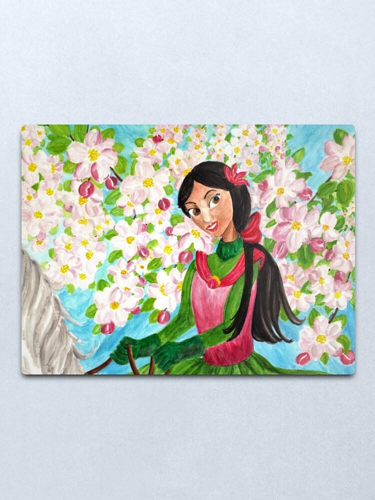 Alternate view of Princess Precious - In the Spring - Wall Art Metal Print