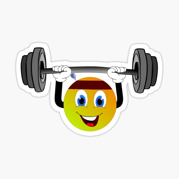 Muscle Emojis Stickers Redbubble