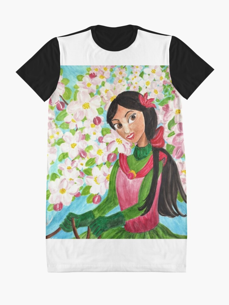 Alternate view of Princess Precious - In the Spring - Scarf and Clothing Graphic T-Shirt Dress