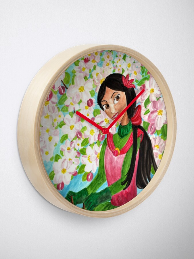 Alternate view of Princess Precious - In the Spring - Clock Clock
