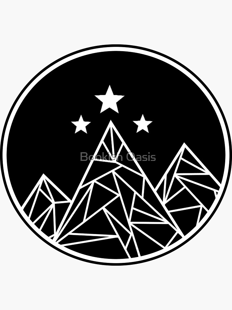 Mountains and Stars - White Outline by DeanGirlPrints