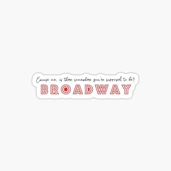 HSMTMTS Carlos Broadway Quote - Wildcat Red Sticker