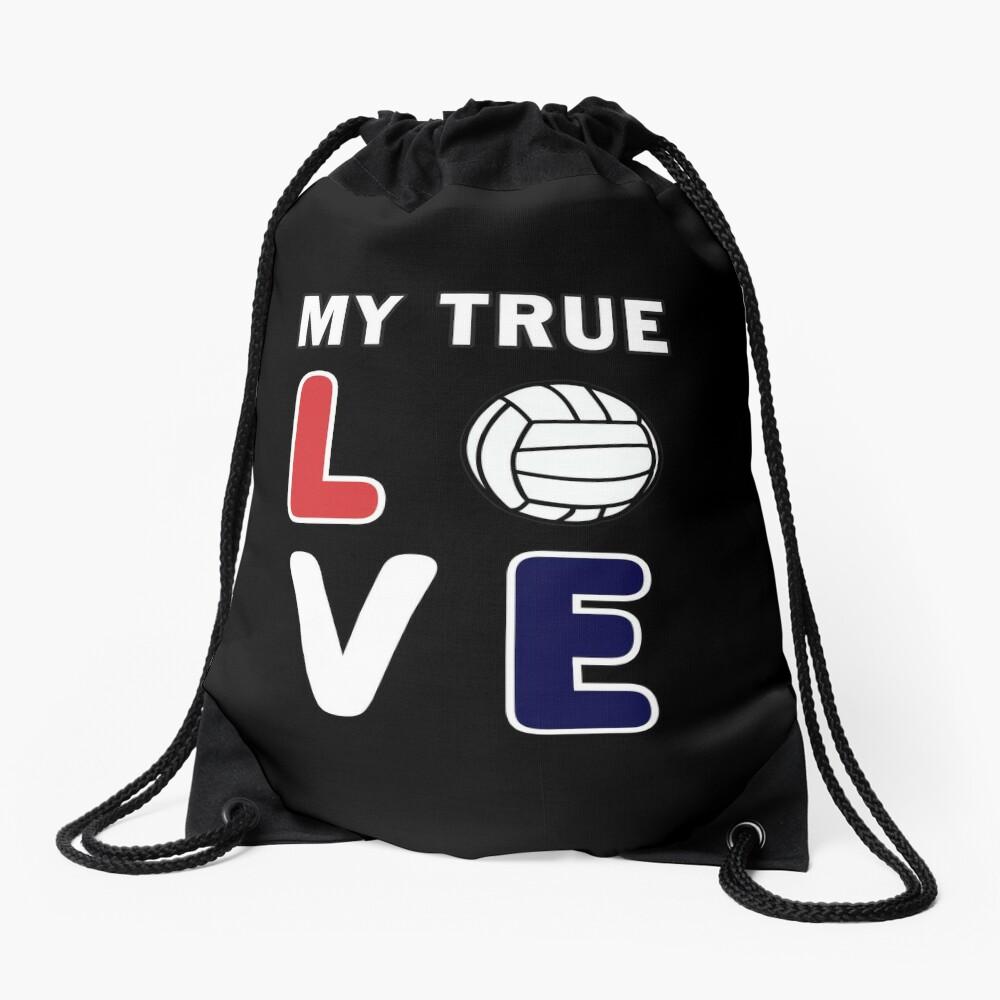 Volleyball My True Love Sportive V-Ball Team Gift. Drawstring Bag