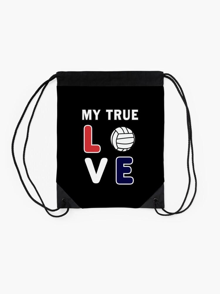 Alternate view of Volleyball My True Love Sportive V-Ball Team Gift. Drawstring Bag