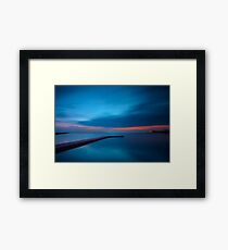 Late Night Blues Framed Print