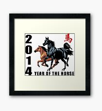 2014 Year of The Horse Framed Print