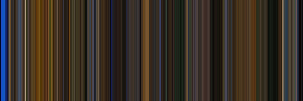 Moviebarcode: Gattaca (1997) [Simplified Colors] by moviebarcode