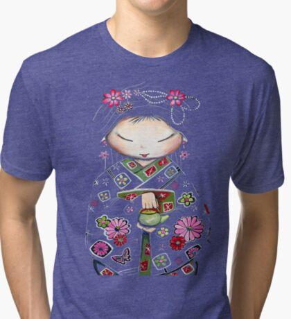 Little Green Teapot TShirt by Karin Taylor Tri-blend T-Shirt