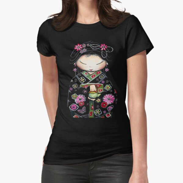 Little Green Teapot TShirt by Karin Taylor Fitted T-Shirt