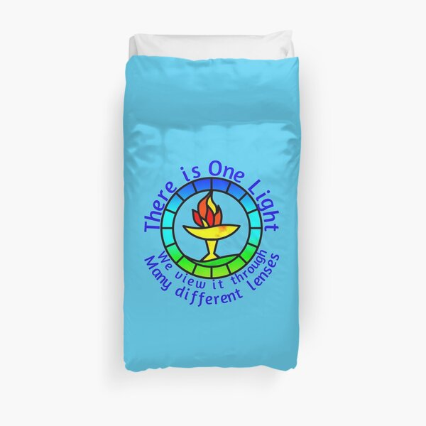 Unitarian-Universalism in a nutshell (Blue Text) Duvet Cover