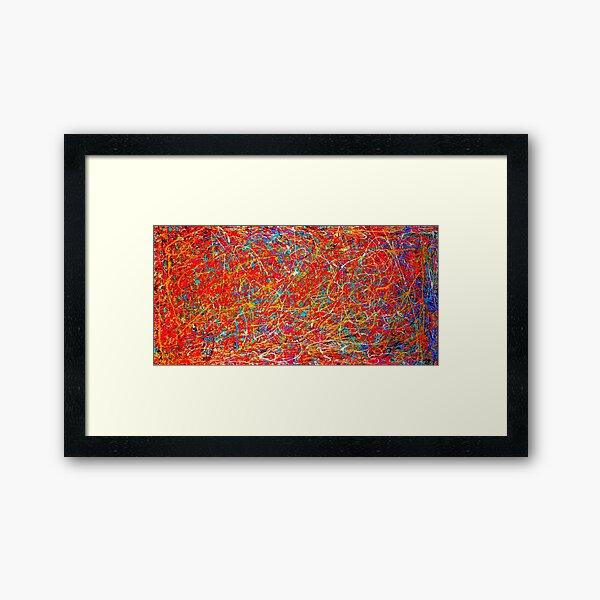 Abstract Jackson Pollock Painting Original Art  Framed Art Print