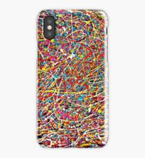 Abstract Jackson Pollock Painting Original Art Titled: Move It iPhone Case