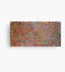 Abstract Jackson Pollock Painting Original Art Titled: Move It Metal Print