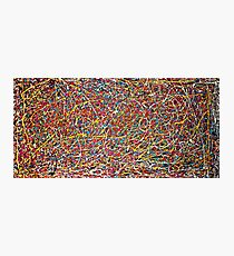 Abstract Jackson Pollock Painting Original Art Titled: Move It Photographic Print