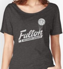Fulton Recovery Service - White - Damaged Women's Relaxed Fit T-Shirt