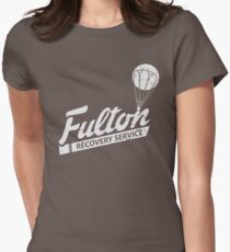 Fulton Recovery Service - White - Damaged Women's Fitted T-Shirt