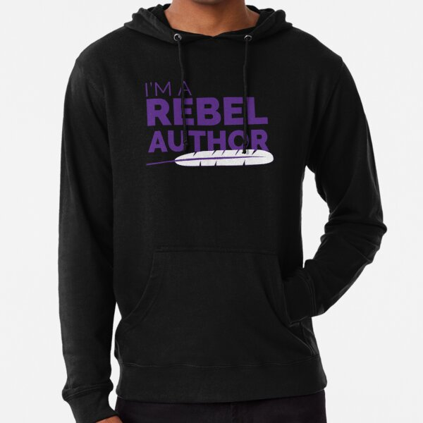 I'm a Rebel Author Lightweight Hoodie