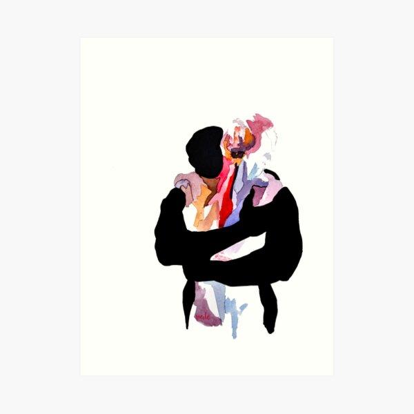 lovers watercolor  Art Print