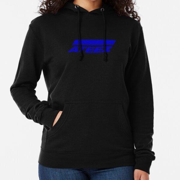 Logo ATEEZ (Action pour répondre) (Bleu) Sweat à capuche léger