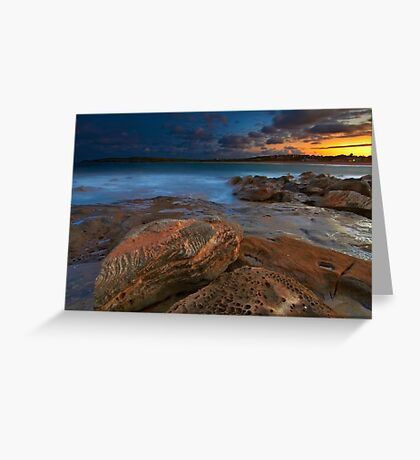 Sunset at Maroubra Greeting Card