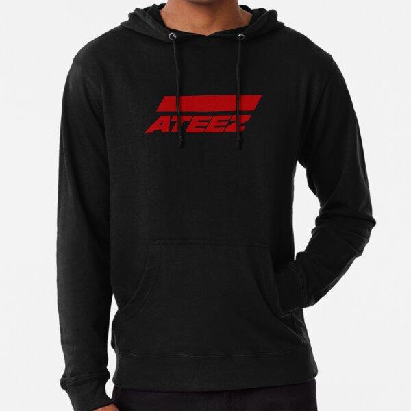 Logo ATEEZ (Action pour répondre) (Rouge) Sweat à capuche léger