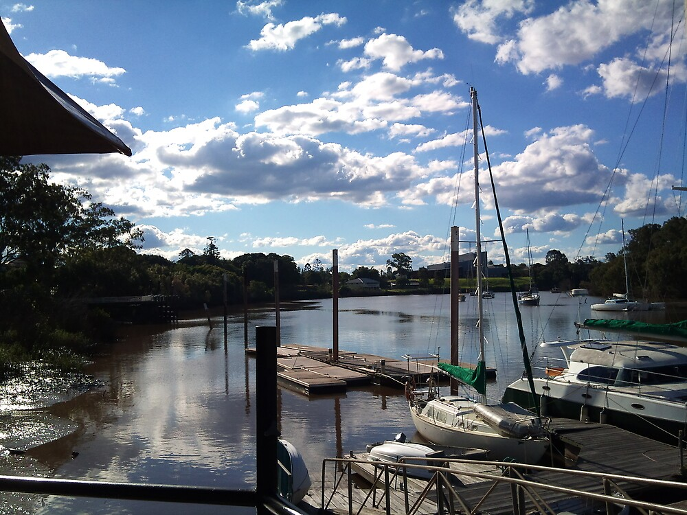 Historic dockside - Mary River by James Pollard
