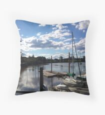 Historic dockside - Mary River Throw Pillow