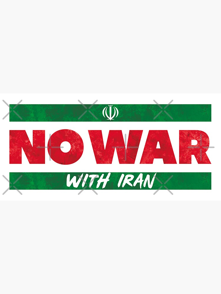 No War With Iran by BethsdaleArt