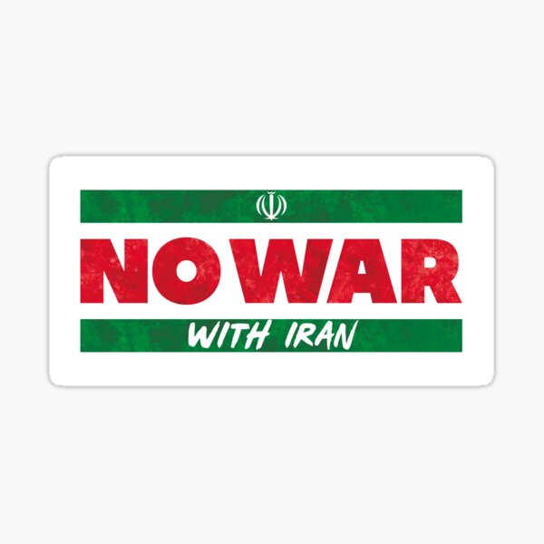 No War With Iran Sticker