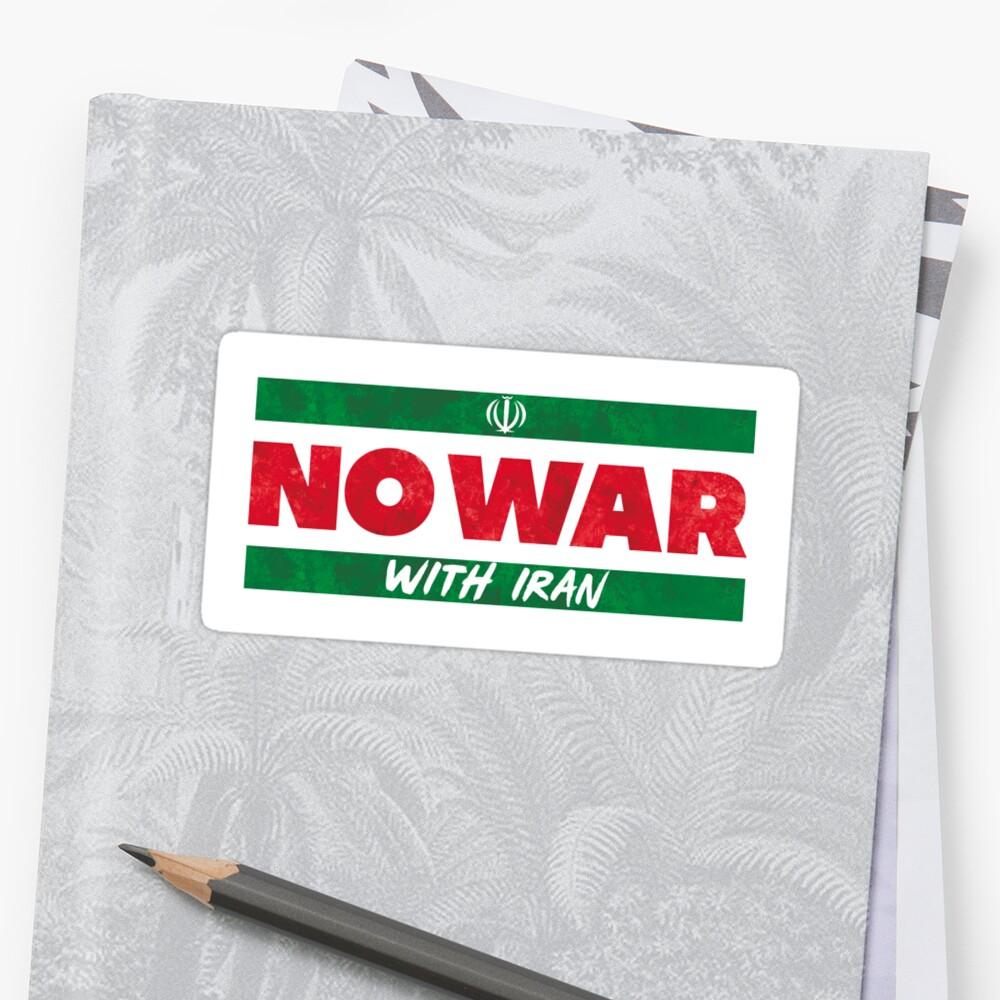 No War With Iran Sticker