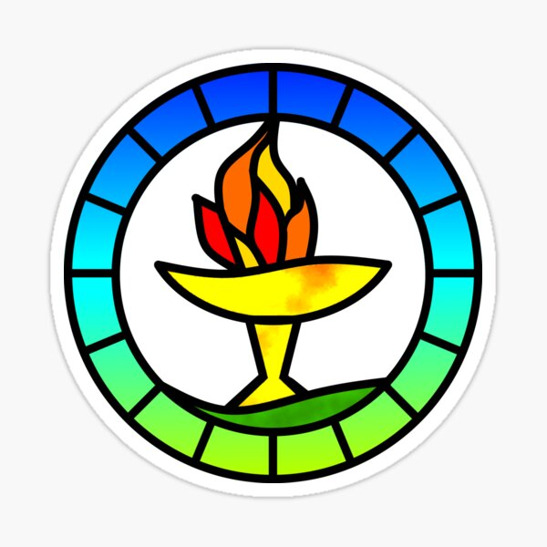 Stained Glass Chalice Sticker