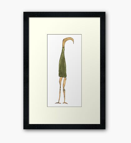 the long-snouted curtain Framed Print