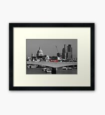Red London Bus Framed Print