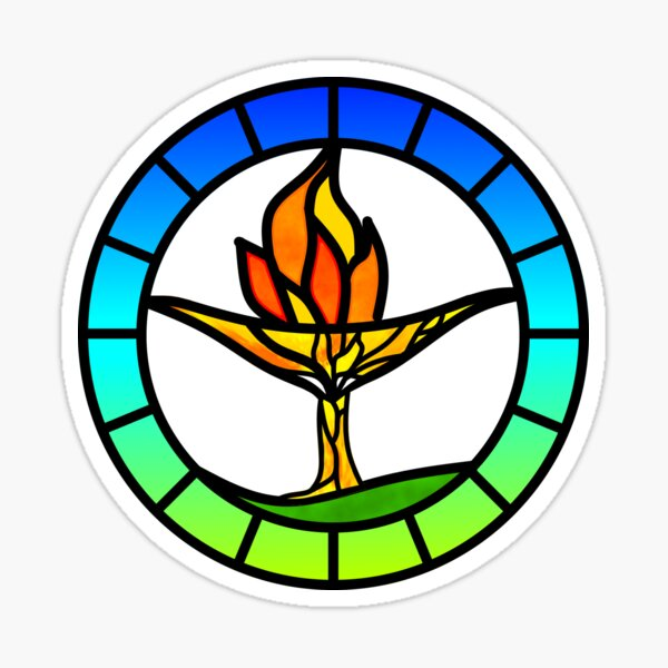 Stained Glass Chalice Tree Sticker