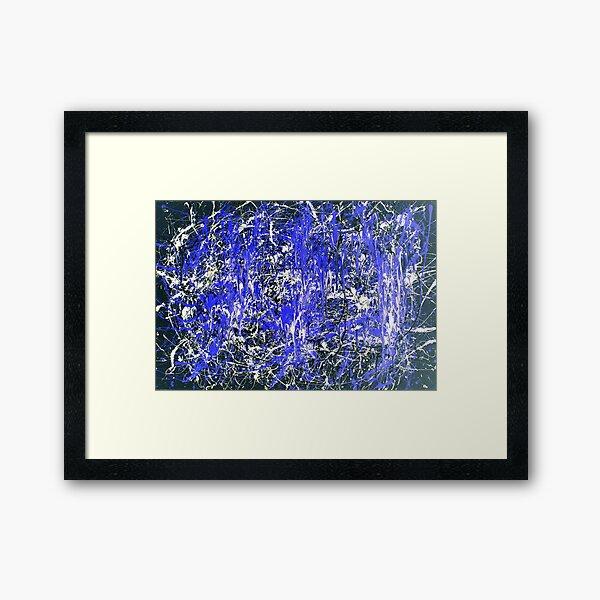Abstract Jackson Pollock Painting Original Art Titled: Blue Dance Framed Art Print
