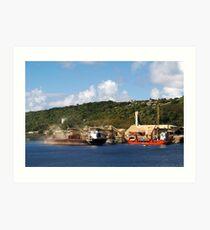 Phosphates Ship Loading / Cargo Ship Loading Art Print