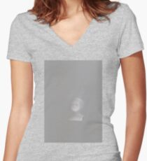 Ghost Doll Women's Fitted V-Neck T-Shirt