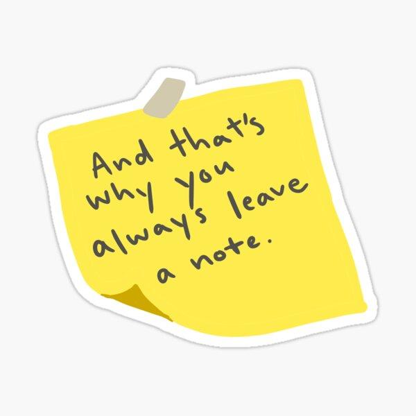 Leave a Note Sticker
