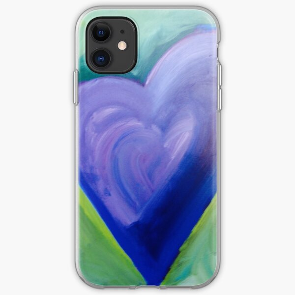 Hearts on Fire - Aubergine iPhone Soft Case