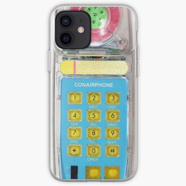 80s 80s Transparente Translúcido Conairphone Neon Brights Dial Funda blanda para iPhone