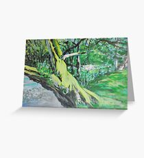 By the Bank Greeting Card
