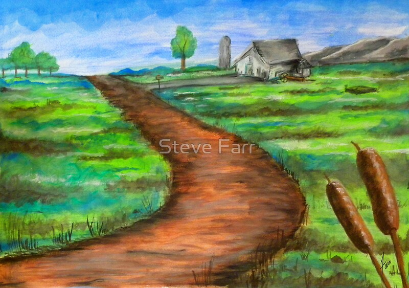 how to draw dirt road