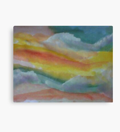 Clouds and sky, watercolor Canvas Print
