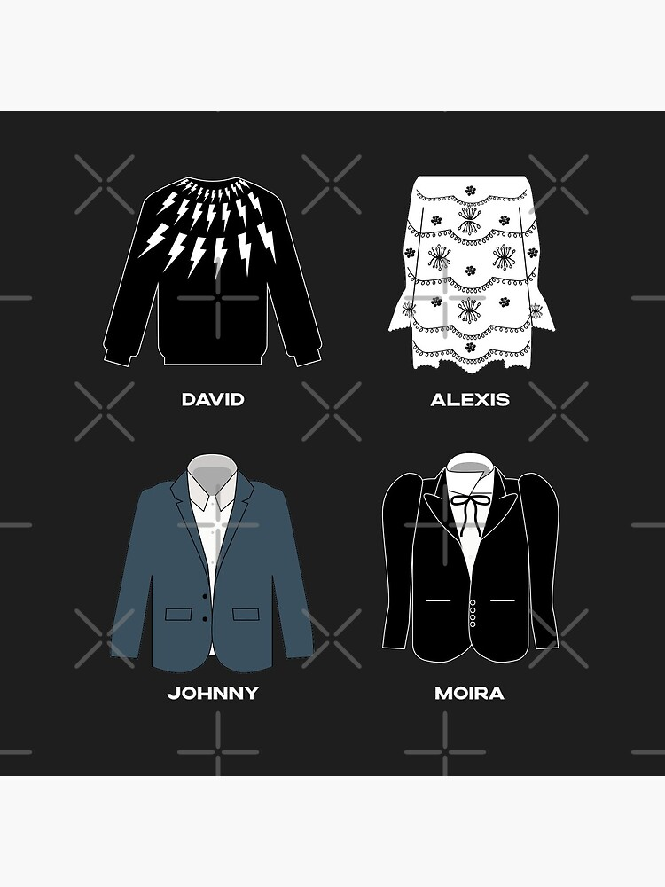 Schitt's Creek Iconic Costumes for David Rose, Johnny Rose, Moira Rose and Alexis Rose. by The-Goods